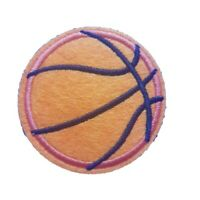 Orange Basketball Iron On Patch Sew on Embroidered New sports NBA