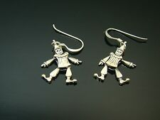 Sterling Silver Articulated Clown Earrings