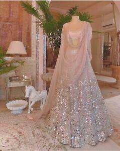New Lehenga Heavy Choli Bridal Wedding Indian Designer Lengha Ethnic Wear Party