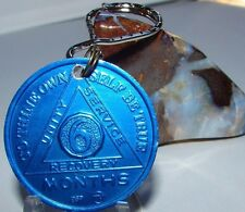 Alcoholics Anonymous Aa 6 Month Aluminum Keychain Medallion Token Chip Sober