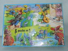 Ancien puzzle Flable de la Fontaine 6 scènes Neuf WILLEB Vintage 80's