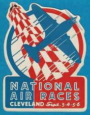 "VINTAGE ORIGINAL 1937 ""NATIONAL AIR RACES"" DECAL ART LEISY'S BEER CLEVELAND OHIO"