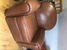 Made - brown faux leather armchair