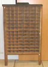 Antique Ludlow Wood Printers Letterpress Tray Display Shelf Drawers  LDW