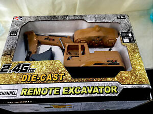 3853 1/24 8CH RC Excavator Die-cast Alloy Metal Construction Tractor 2.4Ghz N1T0