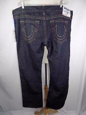 NWT True Religion Straight Blue Denim Jeans Men's 44 x 35