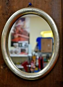VINTAGE BORGHESE GOLD OVAL MIRROR