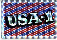 vtg prismatic sticker USA-1 America flag pride liberty American