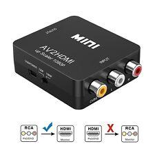 RCA AV to HDMI Converter For Nintendo Sega Genes NES Gamecube SNES N64 Video TV