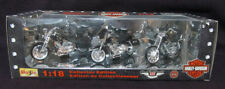 Harley Davidson Collector Edition Anniversary 3 Pk Maisto Diecast 1:18 NIB New