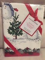 S2 NWT New Williams Sonoma Snowman Kitchen Towels Christmas Set Of 2