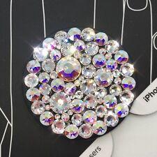 NEW Bling Authentic Black PopSocket CLEAR & AB Mix Swarovski Crystal PopSockets