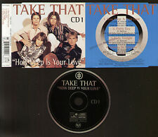 CD TAKE THAT HOW DEEP IS YOUR LOVE +3 1996 PROMO STAMP ON COVER CAMPIONE NON COM
