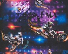 Motorbike Wallpaper Motocross Bike Kids Adult Embossed Multicoloured