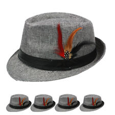 Fedora Hat Wedding Dress Formal WOMEN MEN GRAY POPULAR CAP FASHION VALENTINES