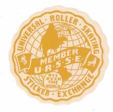 Vintage Universal Roller Skating Sticker Exchange Member Label