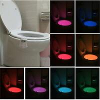 Toilet Night Light 2Pack by Ailun Motion Activated LED Light 8 Colors Changing