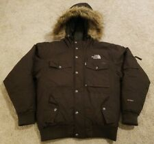 Mens The North Face Gotham III Brown Goose Down Jacket - Fur Hood - Small