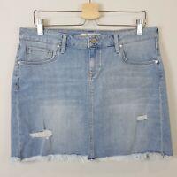 MAVI   Womens Ripped Vintage Denim Skirt NEW + TAGS [ Size XL or AU 16 / US 10 ]