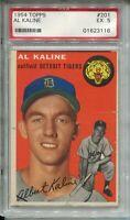 1954 Topps Baseball #201 Al Kaline Rookie Card RC Graded PSA EX 5 Detroit Tigers