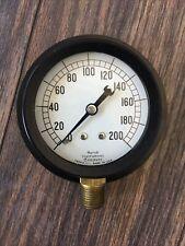 Marsh Instrument Pressure Gauge 0 200 Psi New Old Stock