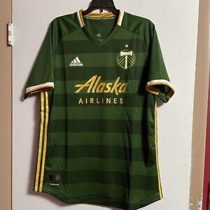 Adidas Portland Timbers Jersey Large L MLS NWT $120 Green Aeroready