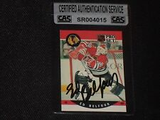 HOF ED BELFOUR 1990-91 PRO SET ROOKIE SIGNED AUTOGRAPHED CARD #598 CAS AUTHENTIC