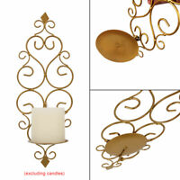 Iron Wall Hanging Sconces Vintage Party Wedding Decor Candlestick Candles Holder