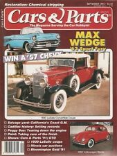 CARS & PARTS September 1991 w/57 Chevy, 63 Plymouth, 56 VW, 30 LaSalle + more