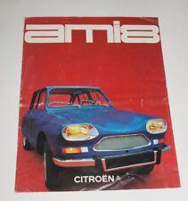 Citroen Ami 8 Prospekt brochure mehrseitig Werbung 1