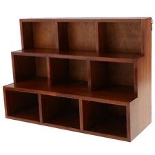 3 Tier Wood Bookcase Shelf Display 9-Cube Shelf Storage Unit Organizer Brown
