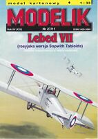 ORIGINAL PAPER-CARD MODEL KIT - Lebed VII (Russian version of Sopwith Tabloid