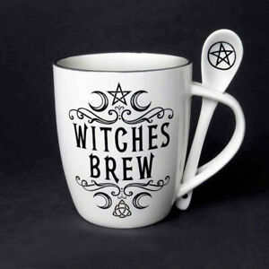 Witches Brew Mug & Spoon Set Fine Bone China Coffee Cup Micro & Dishwasher Safe