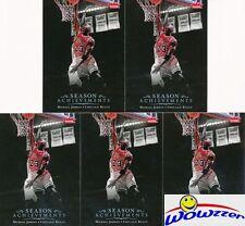 (5)2007/08 Upper Deck #SH46 Michael Jordan Season Achievements Chicago Bulls HOF
