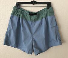 Vintage 90s Athletic Works Mens Color Block Swim Trunks Size L Green Blue