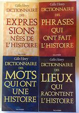 COFFRET LES MOTS DE L'HISTOIRE dictionnaire 4 livres Henry phrases expressions
