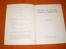 rivista di cultura classica e medievale  1,70