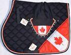 CANADIAN FLAG SADDLE PAD SET FLY VEIL HORSE EAR BONNET EQUESTRIAN Free Shipping