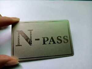 Stainless Steel Metal Funny N - Word Pass