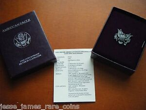 NO COIN: 1991 S PROOF SILVER EAGLE BOX/COA OGP ONLY BUY 2 GET 3RD FREE!