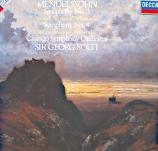 GEORG SOLTI/CHICAGO SYMPHONY symphony n°3 & 4 ecossaise/italienne MENDELSSOHN LP