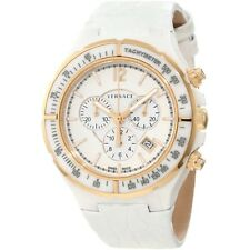 Versace 28CCP1D001 S001 Dv One Tachymeter Bezel White Chronograph Watch