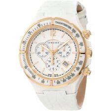 Versace 28CCP1D001 S001 Dv One Tachymeter Bezel White Chronograph Watch