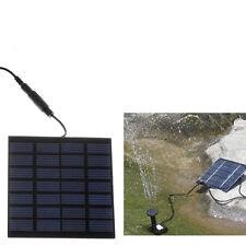 Solar Power Fountain Pool Water Pump Garden Plants Watering Kit Set