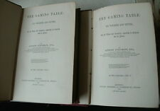 THE GAMING TABLE STEINMETZ 1870 1ST EDITION 2 VOLUME SET GAMBLING HISTORY BOOK