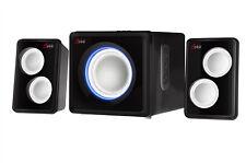 Sykik Sound Bluetooth Wireless SP0232BK 2.1 Ch Multimedia Speaker System Black