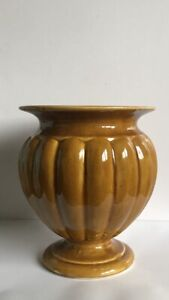 Vintage Treacle Glazed Ceramic Planter Vase With Pedestal Base 9""