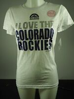 Colorado Rockies Official MLB Genuine Kids Youth Girls Size Sheer Shirt New Tags