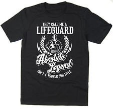 Lifeguard T-Shirt - Absolute Legend! Funny T-Shirt available in 6 colours.
