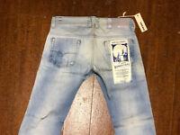 $348 New Diesel Safado 812U Regular Slim Straight Leg Light Exposure Jeans 32/30